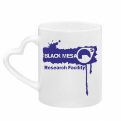 Кружка с ручкой в виде сердца Black Mesa