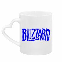 Кружка з ручкою у вигляді серця Blizzard Logo