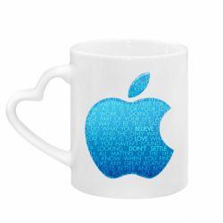 Кружка с ручкой в виде сердца Blue Apple