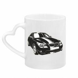 Кружка с ручкой в виде сердца BMW car
