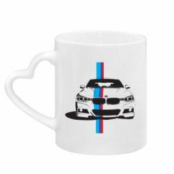Кружка с ручкой в виде сердца BMW F30