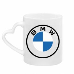 Кружка з ручкою у вигляді серця BMW logotype 2020