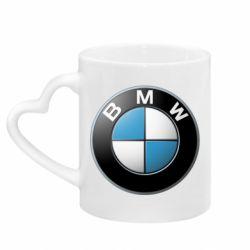 Кружка с ручкой в виде сердца BMW Small Logo