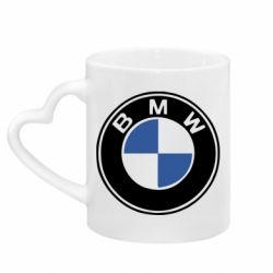 Кружка с ручкой в виде сердца BMW