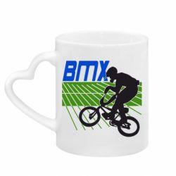 Кружка с ручкой в виде сердца BMX Sport