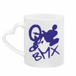 Кружка з ручкою у вигляді серця BMX
