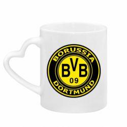 Кружка з ручкою у вигляді серця Borussia Dortmund