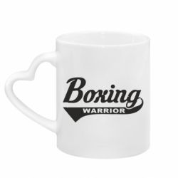 Кружка з ручкою у вигляді серця Boxing Warrior