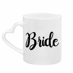 Кружка з ручкою у вигляді серця Bride