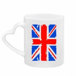 Кружка с ручкой в виде сердца Британский флаг