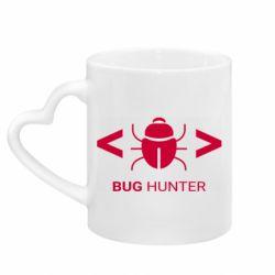 Кружка з ручкою у вигляді серця Bug Hunter