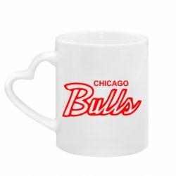 Кружка з ручкою у вигляді серця Bulls from Chicago