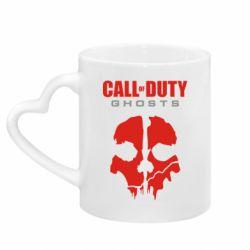 Кружка з ручкою у вигляді серця Call of Duty Ghosts