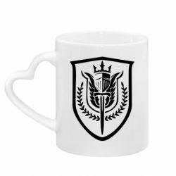 Кружка з ручкою у вигляді серця Call of Duty logo with shield