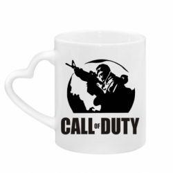Кружка с ручкой в виде сердца Call of Duty Logo