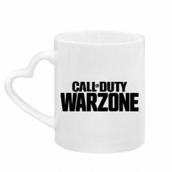 Кружка з ручкою у вигляді серця Call of Duty: Warzone