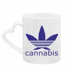 Кружка з ручкою у вигляді серця Cannabis