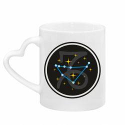 Кружка с ручкой в виде сердца Capricorn constellation