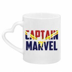 Кружка з ручкою у вигляді серця Captain marvel inside star
