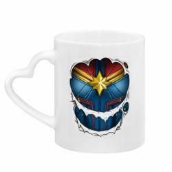Кружка з ручкою у вигляді серця Captain Marvel's Costume