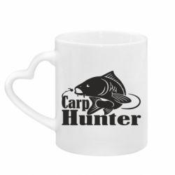 Кружка з ручкою у вигляді серця Carp Hunter