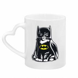 Кружка з ручкою у вигляді серця Cat Batman