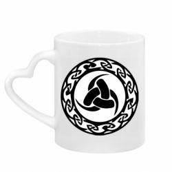 Кружка з ручкою у вигляді серця Celtic knot circle