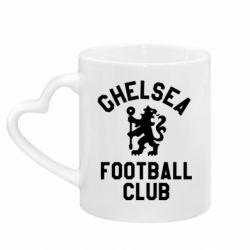 Кружка з ручкою у вигляді серця Chelsea Football Club