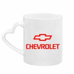Кружка з ручкою у вигляді серця Chevrolet Small