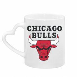 Кружка с ручкой в виде сердца Chicago Bulls Classic