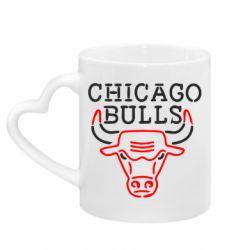 Кружка з ручкою у вигляді серця Chicago Bulls Logo