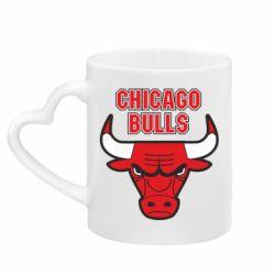 Кружка з ручкою у вигляді серця Chicago Bulls vol.2