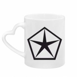 Кружка з ручкою у вигляді серця Chrysler Star