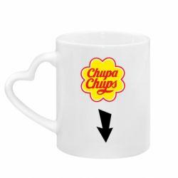 Кружка с ручкой в виде сердца Chupa Chups