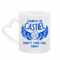 Кружка з ручкою у вигляді серця Church of Castel