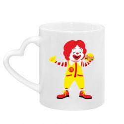 Кружка з ручкою у вигляді серця Clown McDonald's