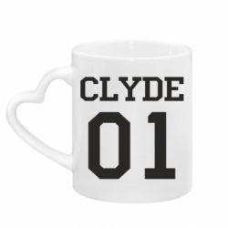 Кружка с ручкой в виде сердца Clyde 01