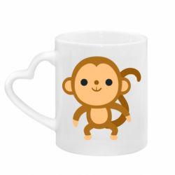 Кружка з ручкою у вигляді серця Colored monkey