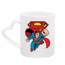 Кружка з ручкою у вигляді серця Comics Superman