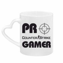 Кружка с ручкой в виде сердца Counter Strike Pro Gamer