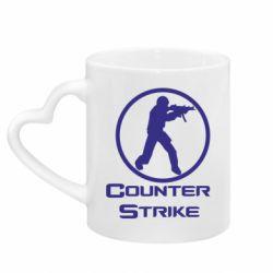 Кружка с ручкой в виде сердца Counter Strike