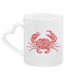 Кружка з ручкою у вигляді серця Crab from transport