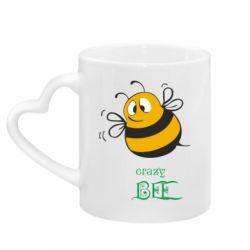 Кружка с ручкой в виде сердца Crazy Bee
