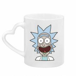 Кружка с ручкой в виде сердца Crazy Rick