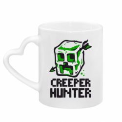 Кружка с ручкой в виде сердца Creeper Hunter