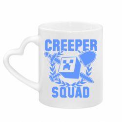 Кружка з ручкою у вигляді серця Creeper Squad