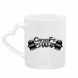 Кружка с ручкой в виде сердца CrossFit Champ