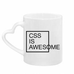 Кружка з ручкою у вигляді серця CSS is awesome