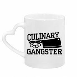Кружка з ручкою у вигляді серця Culinary Gangster