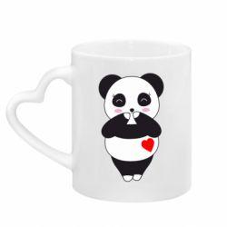 Кружка з ручкою у вигляді серця Cute panda